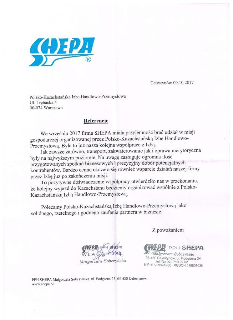 Referencje PPH Shepa